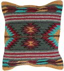 Aztec Throw Pillow Covers 18 X 18 Hand Woven in Southwest and Native American