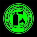 Fire Extinguisher Inside Decal Sticker Car Truck Window - Choice Of Colors Siz