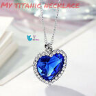 Titanic Necklace Heart Of Ocean Necklace From Movie Alloy Silver And Swarovski