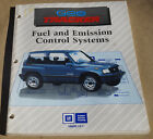 GMC Chevy GEO tracker Fuel and Emission Control System Training Manual