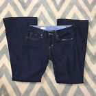 Gap 1969 Womens Vintage Flare Dark Wash Jeans Casual Every Day Waist 29 Size 8
