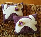 Two Handcrafted Spring Bunny Pillow tuck's ornie's basket filler's