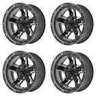 4x XD Series 17x9 XD827 Rockstar III Wheels M Black Machined 5x45 5 114 127 12