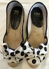 Ras Women Shoes Made In Spain Polka Dots Flat Black White How Size 38