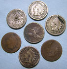 1857 Flying Eagle Cent 1859 1860 1862 1863 1865 1879 Indian Head Cents Lot