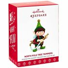 North Pole Tree Trimmers Tree Watering Elf 2017 Hallmark Ornament #5  In Stock