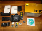 Nikon D810 363 MP MB 10 Grip 2 Batteries 4 CF Cards