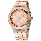 Swatch Irony Full-Blooded Caramel Rose Gold Aluminum Unisex Watch Svck4047Ag