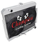 3 Row Racing Radiator2 12 Fans for 1970 1985 Jeep CJ Series Chevy Config
