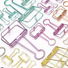Hollow Metal Binder Clips File Paper Photo Organizer Hanging Stationery S M L