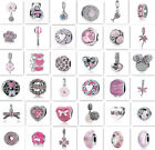 2018 pink European Silver CZ Charm Bead Fit sterling 925 Necklace Bracelet Chain