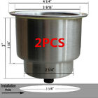 2PCSPractical Stainless Steel Cup Drink Holder Marine Boat Car Truck Camper RV