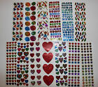 Hambly stickers 1 sheet party stars hearts occasion ABC You Choose