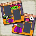 HALLOWEEN PARTY 2 Premade Scrapbook Pages EZ Layout 2801