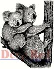 Deep Red Stamps Koala with Baby Rubber Cling Stamp