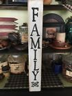 Rustic Family Sign Farmhouse Primitive country handmade sign home