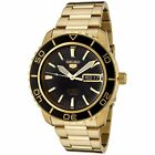 Seiko 5 Sports SNZH60 Automatic Black Gold Stainless Steel Men's Watch SNZH60K1