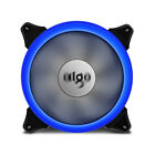 1 2 4 PCS LED 140mm PC CPU Computer Cooling Neon Quite Clear Case Fan Mod 4 Pin
