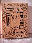 CLUB SCRAP RUBBER BACKGROUND STAMP LIMITED EDITIION 1203 2825 425X575 NEW