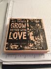 Club Scrap Rubber Stamp All Things Grow Better With Love Collage Stamp