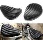 Black Tuck  Roll Leather Solo Seat Saddle For Harley Chopper Custom Bobber USA