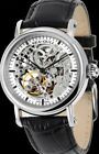 Seagull M182SK Black Hand Automatic Self Winding Men Watches Double Skeleton