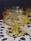 Yellow Dessert Cups Kings Crown Thumbprint 4 Total By Tiffin Franciscan Indiana