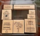 Stampin Up Happy Moments Rubber Stamp set set of 8