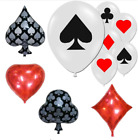 Clubs Diamonds Spades Hearts Foil Balloon Cards Poker Party Supplies Decoration