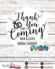 Thank you for coming Bridal Shower Personalized Party Favor Round Stickers