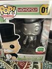 POP Board Games Silver Mr. Monopoly Funko Exclusive #01 Limited!