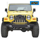 EAG 87 06 Jeep Wrangler YJ TJ Front Bumper With D ring Black Textured Stinger