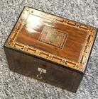 A Lovely Antique Victorian Tunbridge Ware inlayed Tea Caddy Box