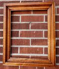 Antique PRIMITIVE American Tiger MAPLE WOOD Picture frame 13 1/4 x 16 3/4 fit