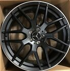 21 MERCEDES BENZ GLS 2018 ML550 GL63 AMG WHEELS RIMS POWDER BLACK GLS GL ML SET