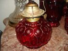 Vintage L.E. Smith Ruby Red Moon and Stars Oil Lamp