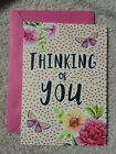Thinking of You Greeting Card Leanin Tree Flowers  Butterflies