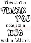 Deep Red Stamps Thank You Hug Rubber Cling Stamp