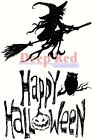 Deep Red Stamps Halloween Witch Rubber Cling Stamp