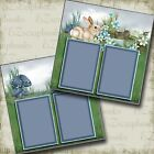 EASTER MEADOW 2 Premade Scrapbook Pages EZ Layout 2855