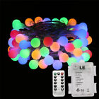 1968ft 6M LED Globe String Lights RGBY Ball Fairy Light Xmas Party Decoration