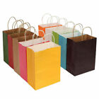 10 Colors Party Bags Kraft Paper Gift Bag With Handle Recyclable Shop Loot Bag s