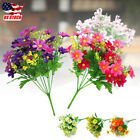 Artificial Bouquet Daisy 28 Heads Small Flower Fake Leaf Wedding Party Decor