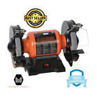 Bench Grinder Machine Tool Single Speed Adjustable with Wide Grinding Wheels New