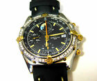 BREITLING CHRONOMAT YACHTING BLACK FOR MEN GOLD/SS 40MM WITH HIGH-END DIAMONDS