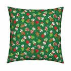 Ditsy Mice Mittens Chritsmas Throw Pillow Cover w Optional Insert by Roostery