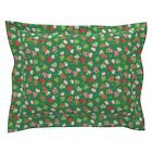Ditsy Mice Mittens Chritsmas Holiday Mitten Glove Pillow Sham by Roostery