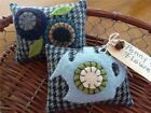 Two Handcrafted Penny Rug Watering Can pillow tuck's ornie's