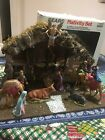 Sears Vintage Nativity Scene Set Model 97893 Finely Crafted 10 Figures Italy