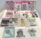 Studio G BIRTHDAY Happy Party Cupcakes Cat Mini Clear Rubber Stamps Lot of 16